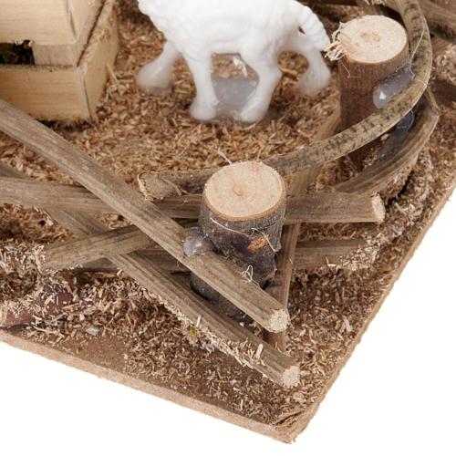 Recinto pecorelle presepe fai da te 10 cm 3