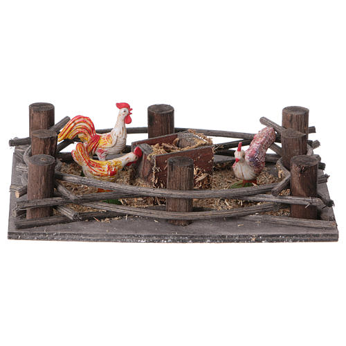 Nativity scene, poultry pen 16x10cm 1
