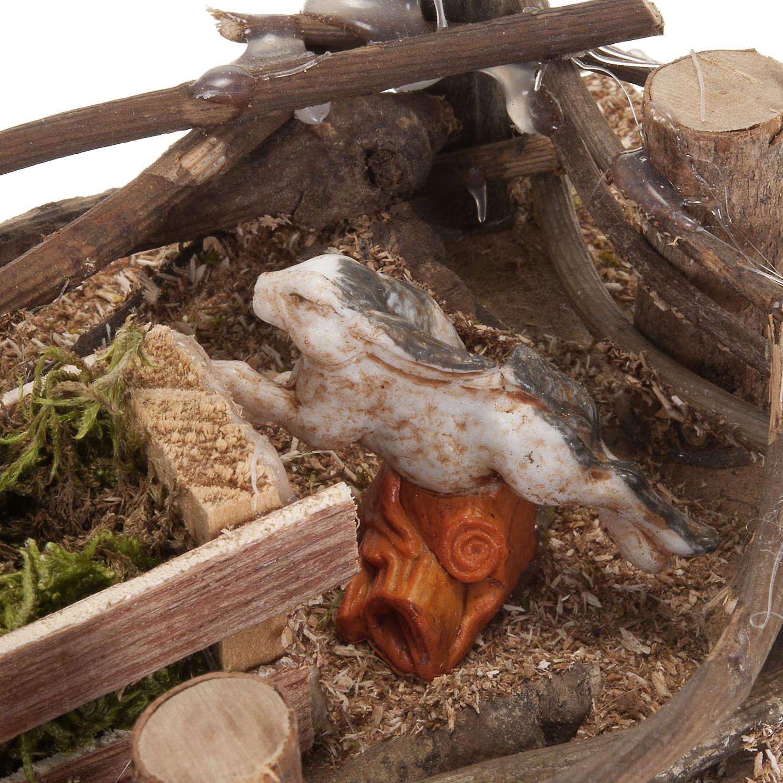 Recinto conigli presepe fai da te 10 cm 3