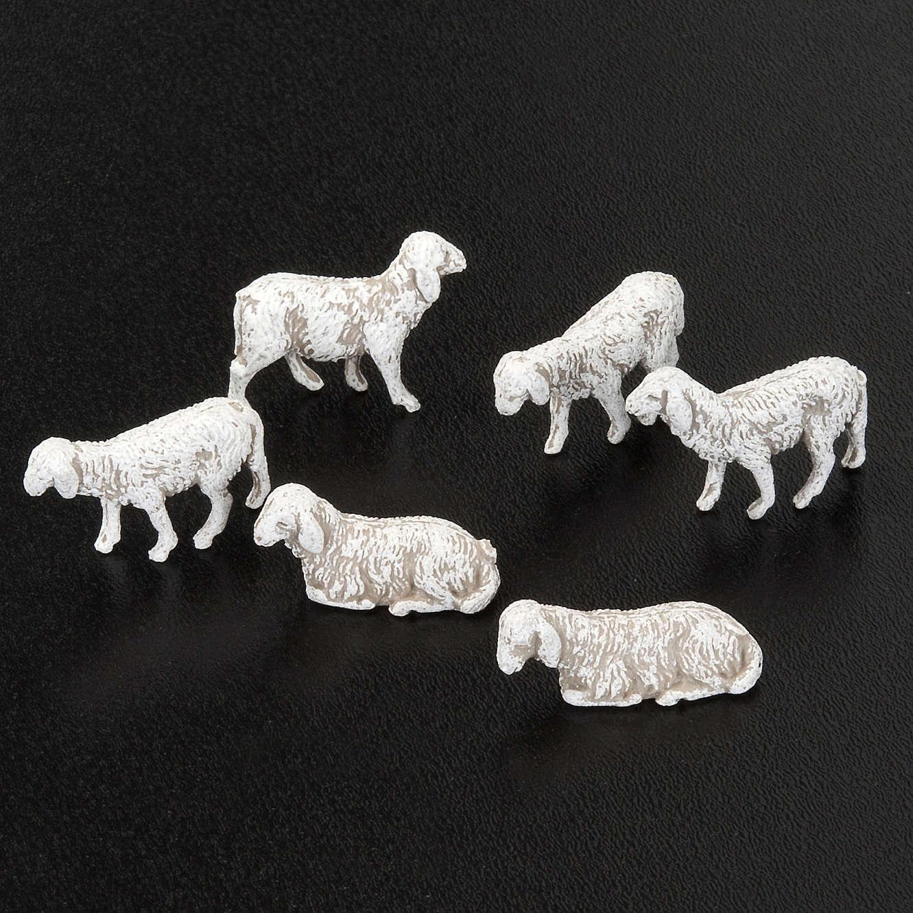 Nativity scene figurines, sheep 1 cm, 6 pieces 3