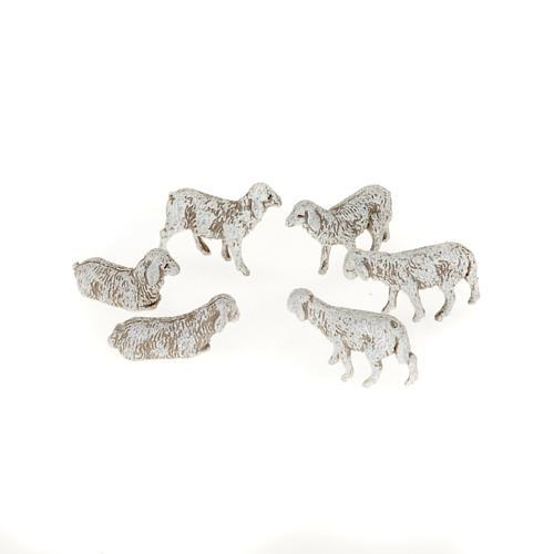 Nativity scene figurines, sheep 1 cm, 6 pieces 1