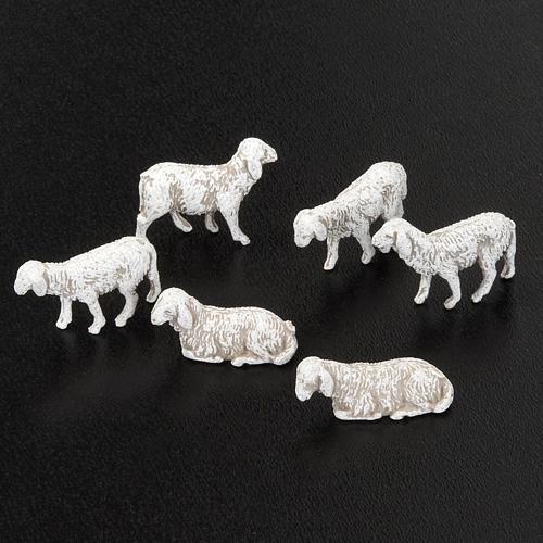 Nativity scene figurines, sheep 1 cm, 6 pieces 2