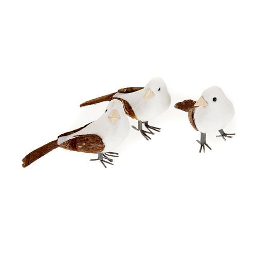 Uccellini presepe confezione 3 pz 10 cm 1