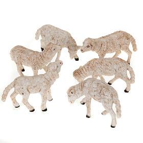 Animales para el pesebre: Ovejas para  belén de 14 cm. 6 pz.