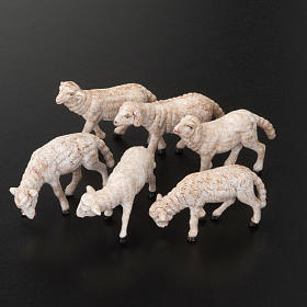 Owce do szopki 14 cm 6 sztuk s2