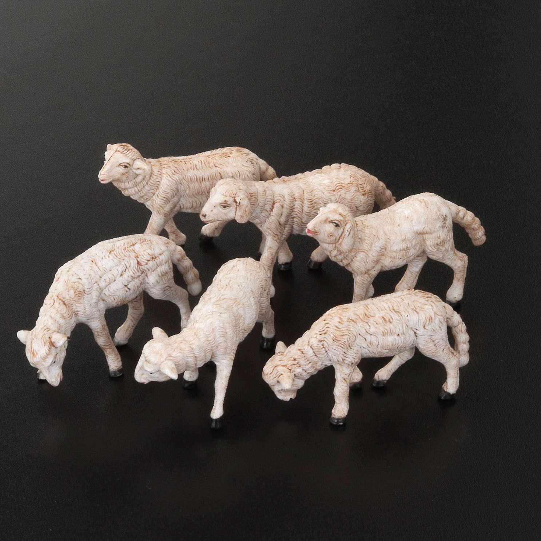 Nativity scene figurines, sheep 14 cm, 6 pieces 3