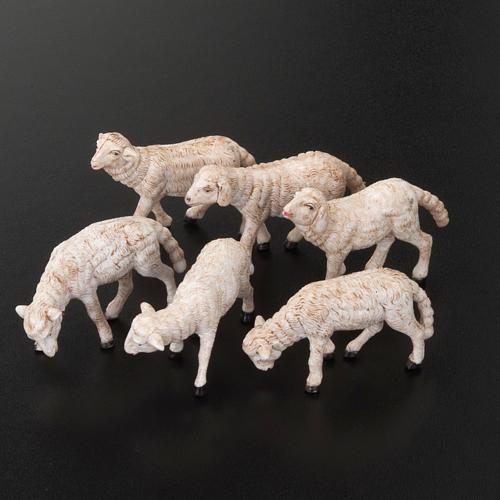 Nativity scene figurines, sheep 14 cm, 6 pieces 2