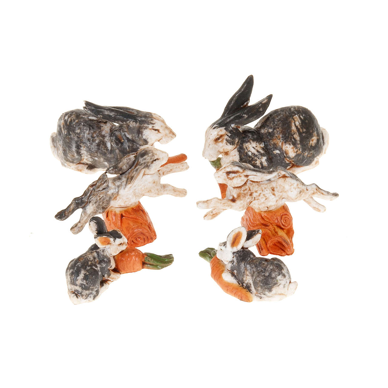 Conigli per presepe 6 pz. 10 cm 3