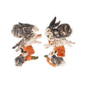 Conigli per presepe 6 pz. 10 cm s1