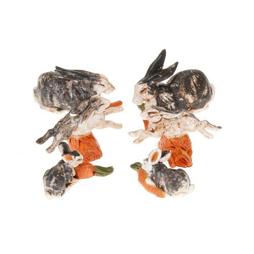 Conigli per presepe 6 pz. 10 cm 1