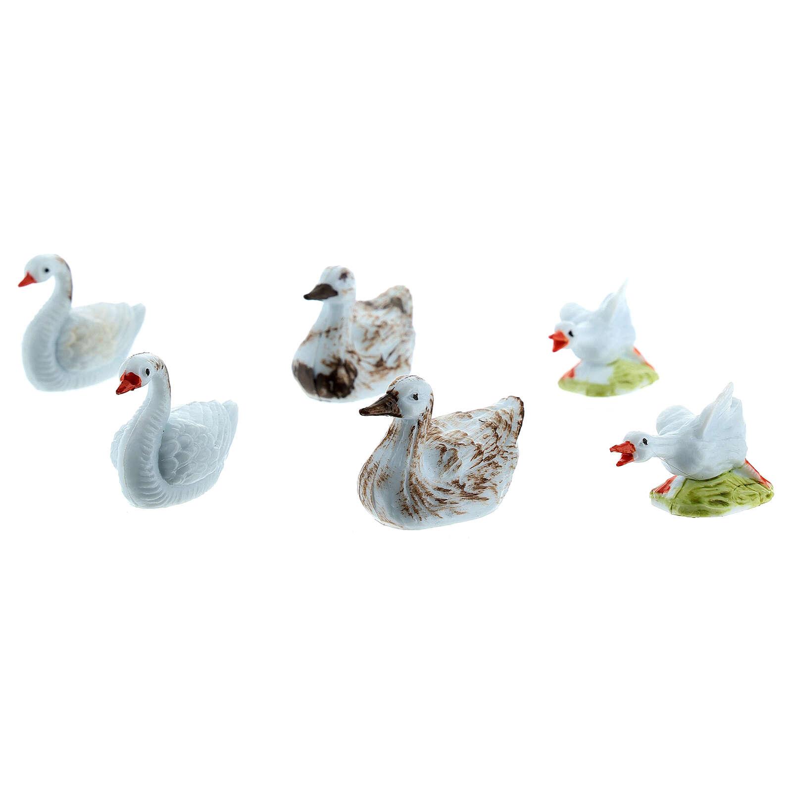 Nativity figurine, geese 10cm, 6 pieces 3
