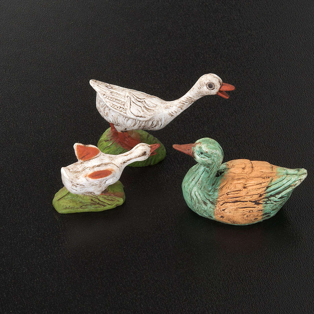 Nativity figurine, geese 10cm, 6 pieces 3
