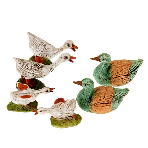 Nativity figurine, geese 10cm, 6 pieces 1