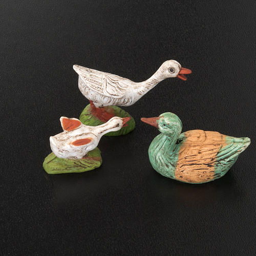 Nativity figurine, geese 10cm, 6 pieces 2