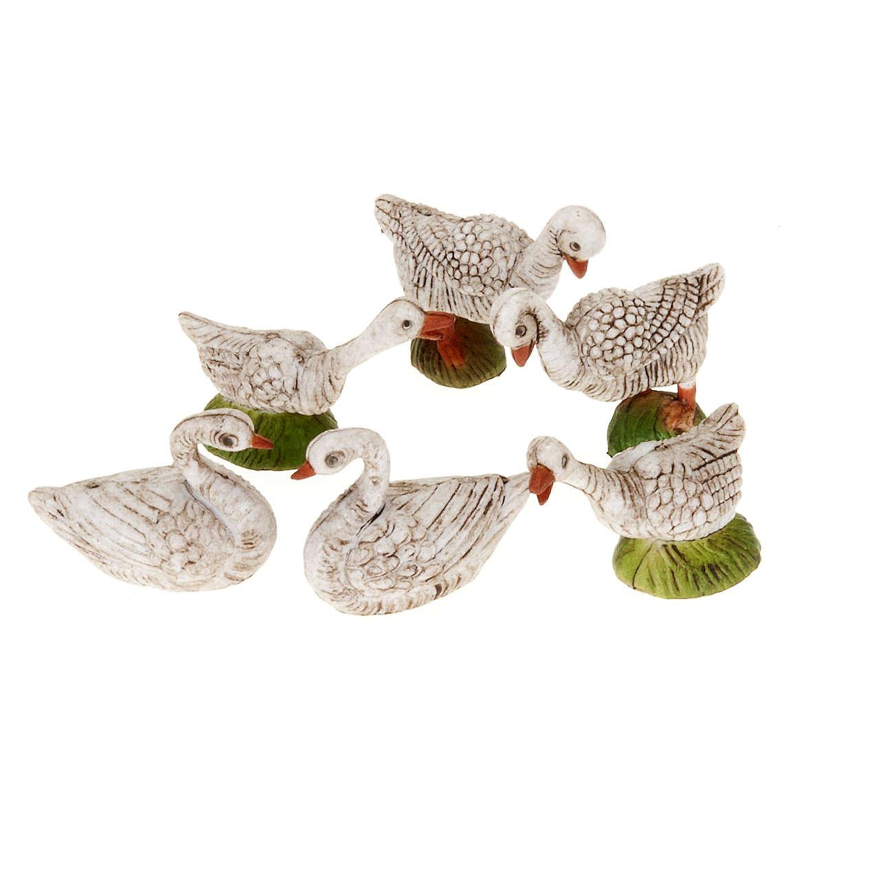 Oies et cygnes miniature crèche 6 pc 3
