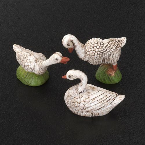 Oies et cygnes miniature crèche 6 pc 2