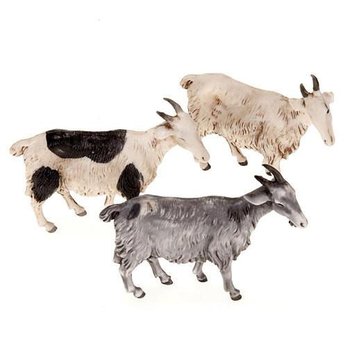 Cabras para belén de 10 cm, 3 pz. 1