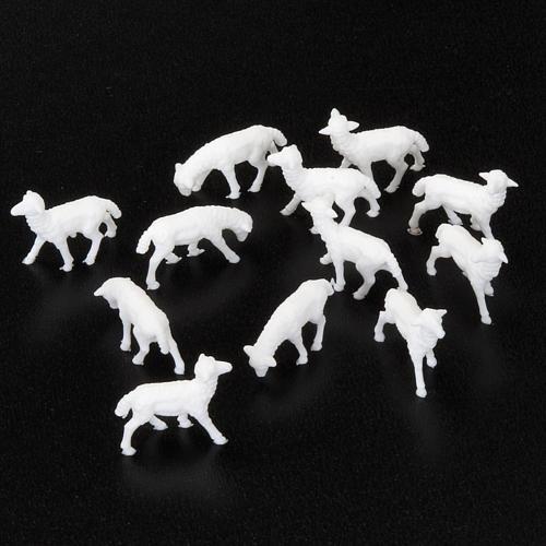 White Sheep 1.1 x 2 cm, 12 pcs set 2