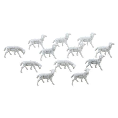 White Sheep 1.1 x 2 cm, 12 pcs set 1
