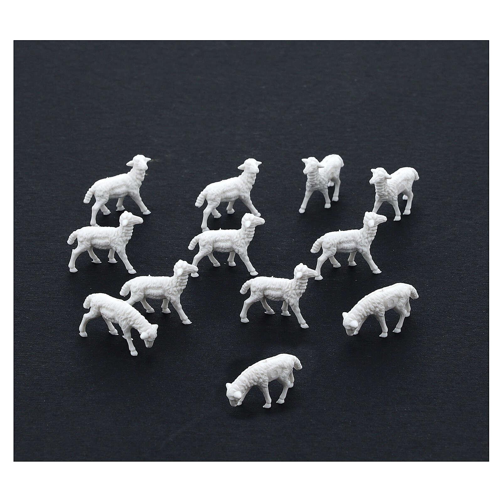 White Sheep 1.1 x 2 cm, 12 pcs set 3