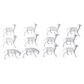 White Sheep 1.1 x 2 cm, 12 pcs set s1