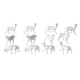 White Sheep 1.1 x 2 cm, 12 pcs set s2