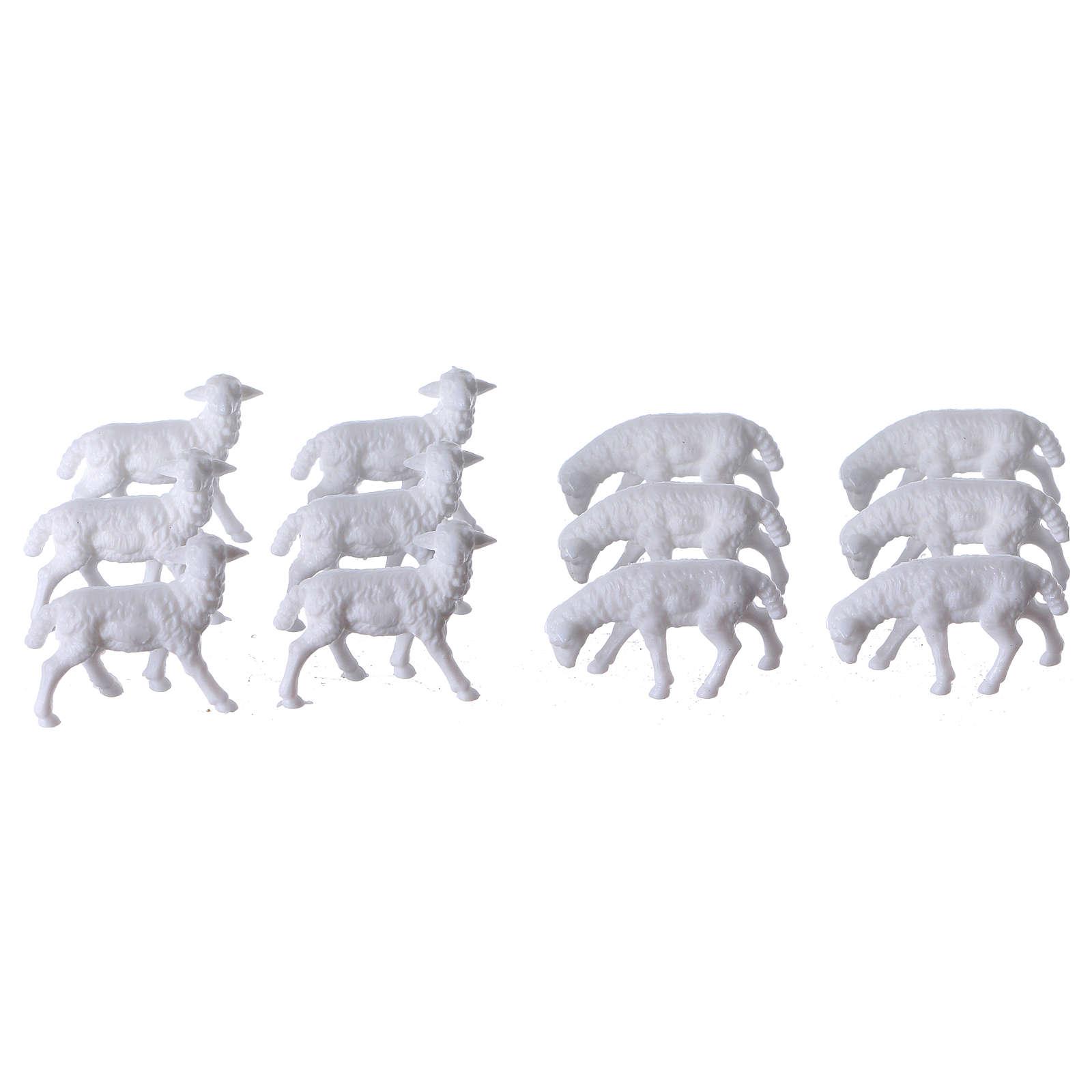 Schafe für Krippe 12 Stücke und 3 cm hoch 3