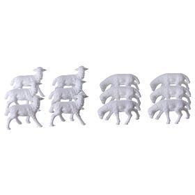 Schafe für Krippe 12 Stücke und 3 cm hoch s1