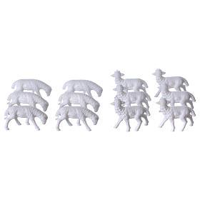 Schafe für Krippe 12 Stücke und 3 cm hoch s2