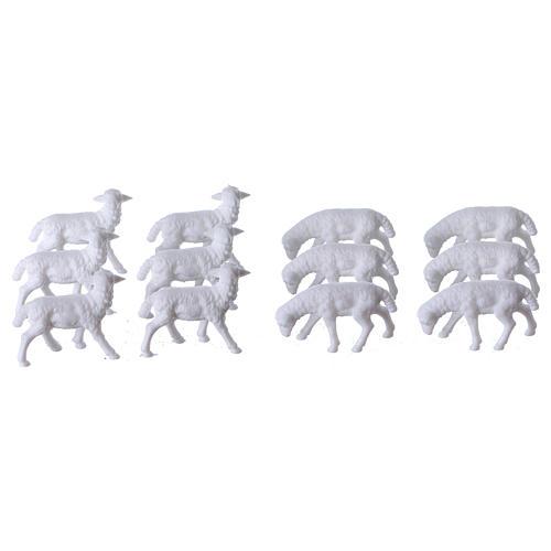 Schafe für Krippe 12 Stücke und 3 cm hoch 1