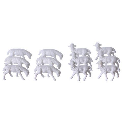 Schafe für Krippe 12 Stücke und 3 cm hoch 2