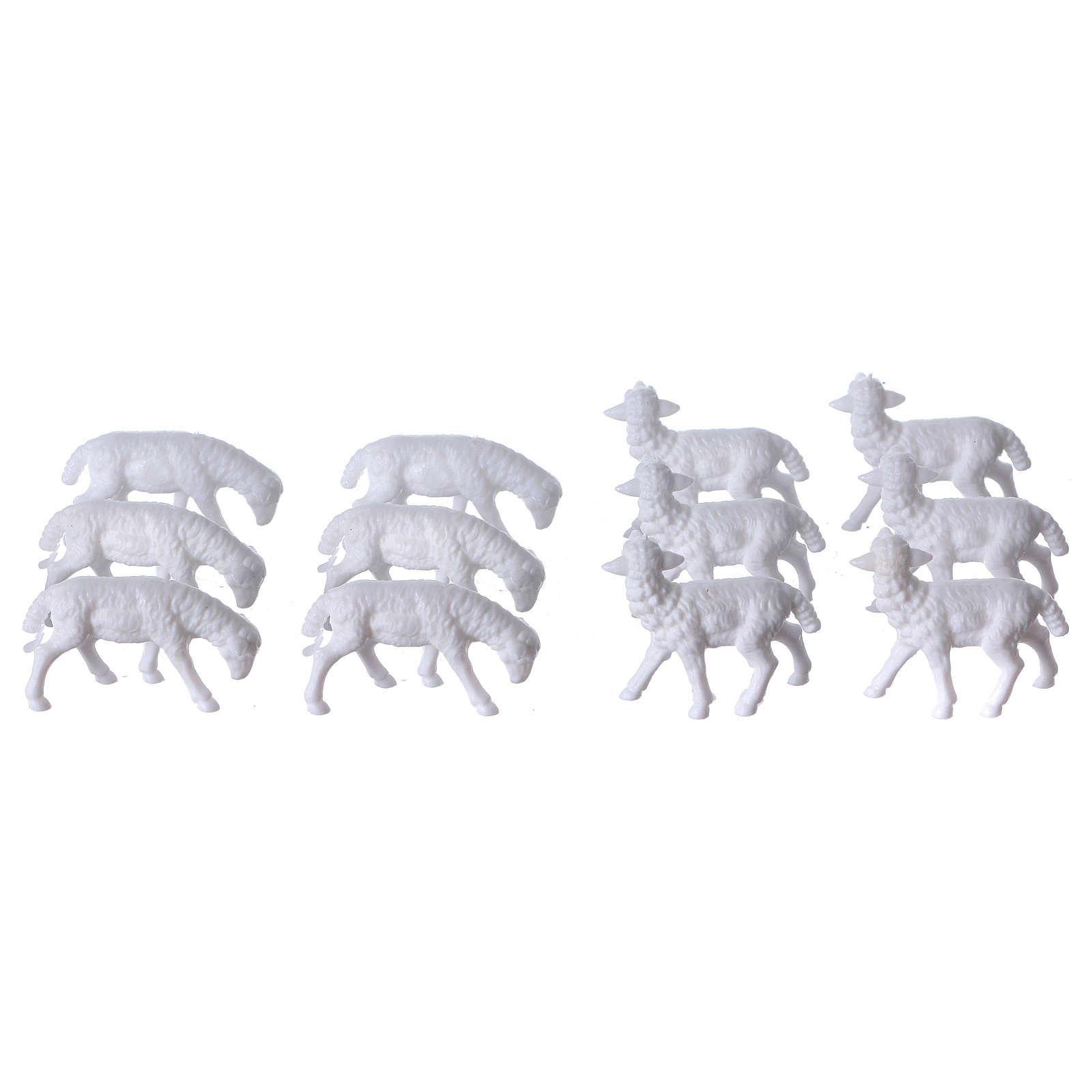 Nativity scene figurines, sheep 12 pieces 3