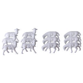 Nativity scene figurines, sheep 12 pieces s1