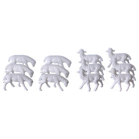 Nativity scene figurines, sheep 12 pieces s2