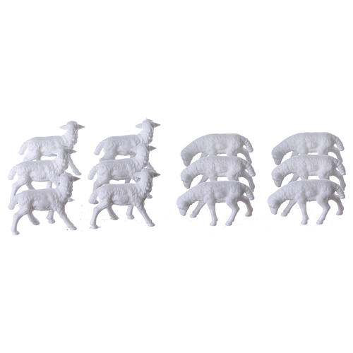 Nativity scene figurines, sheep 12 pieces 1