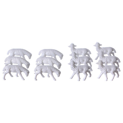 Nativity scene figurines, sheep 12 pieces 2