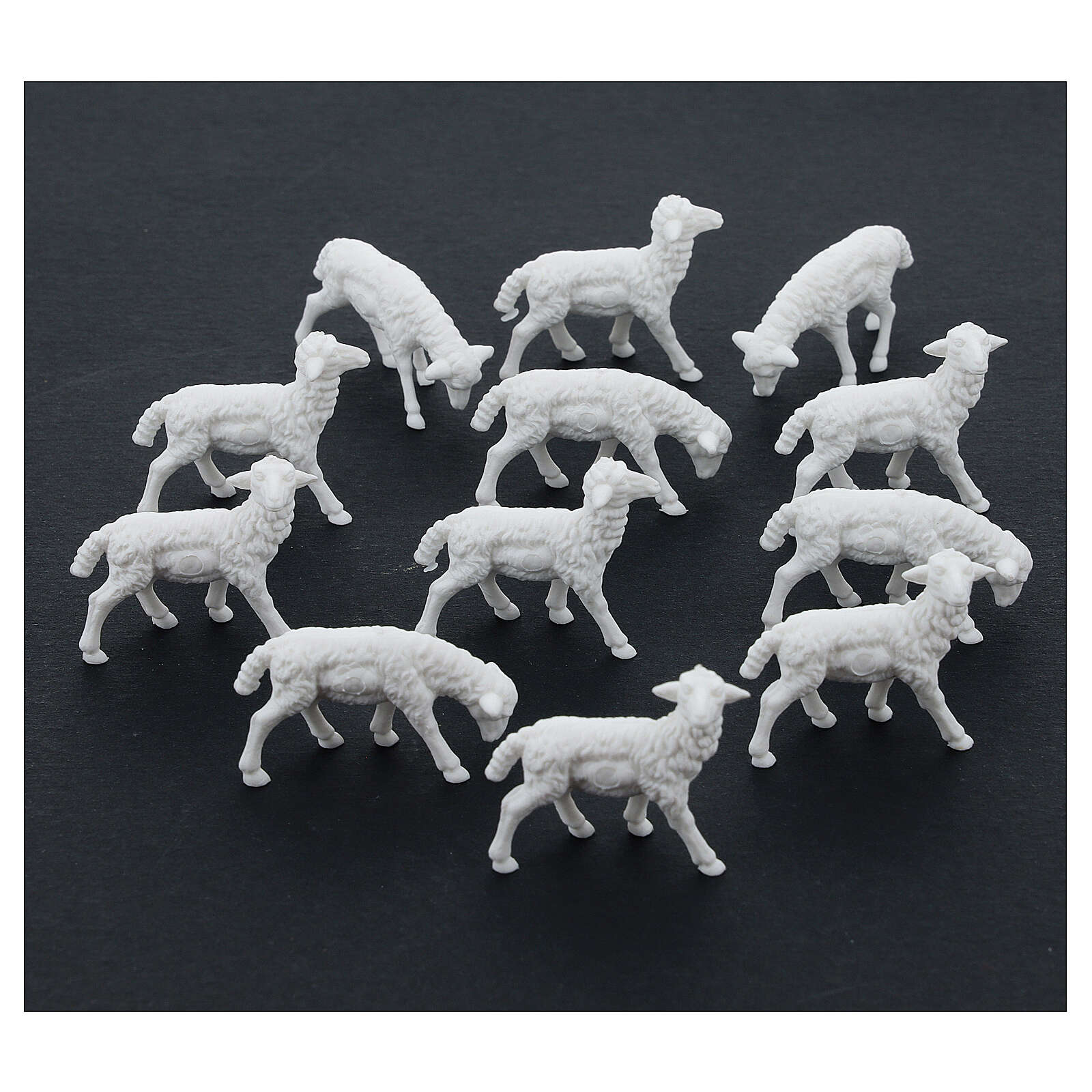 Schafe für Krippe 12 Stücke 8/10cm 3