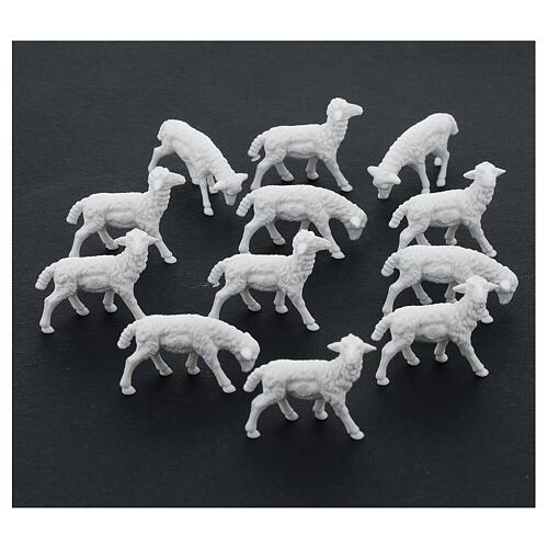 Schafe für Krippe 12 Stücke 8/10cm 2