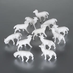 Sheep cm 8-10, 12 pcs set nativity figurines s1