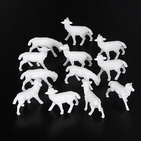Sheep cm 8-10, 12 pcs set nativity figurines s2