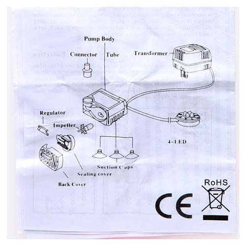 Wasserpumpe 2W für Krippe und Led-Lichter HK-300 5