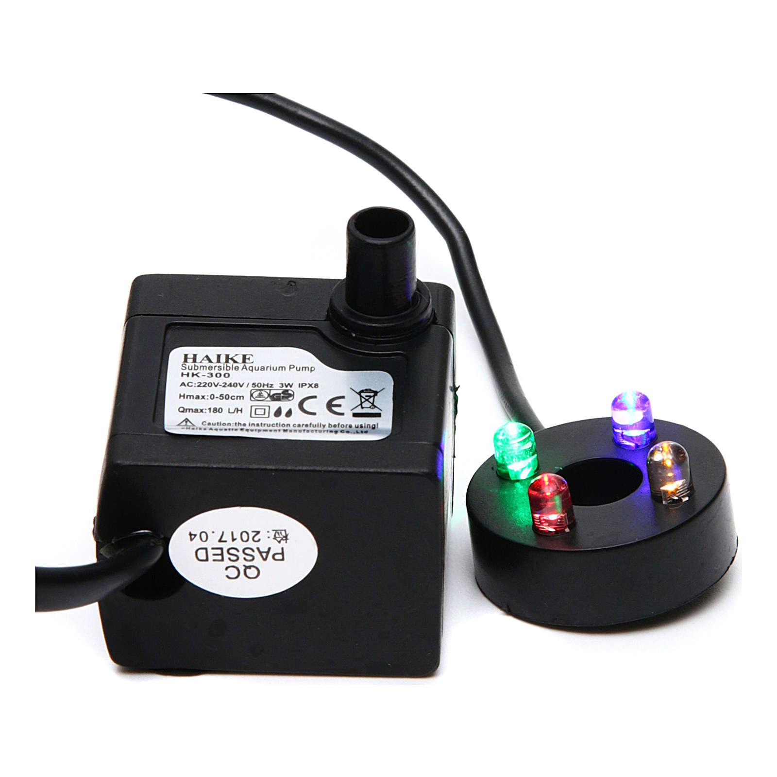 Pompa acqua presepe 2W con led colorati HK-300 4