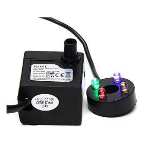 Pompa acqua presepe 2W con led colorati HK-300 s1