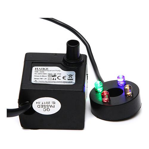 Pompa acqua presepe 2W con led colorati HK-300 1