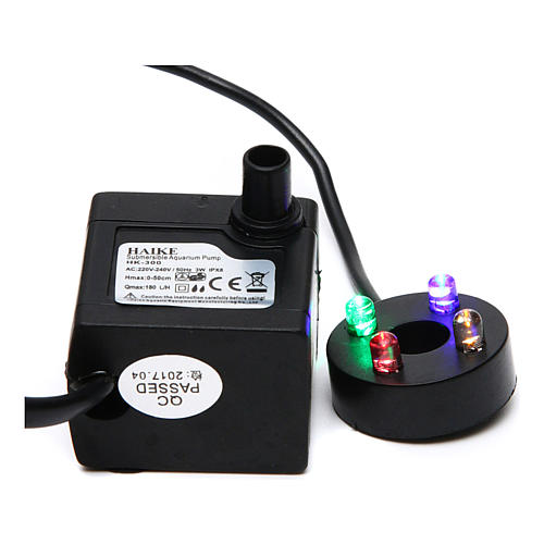 Nativity accessory, water pump with colored leds HK-300 1