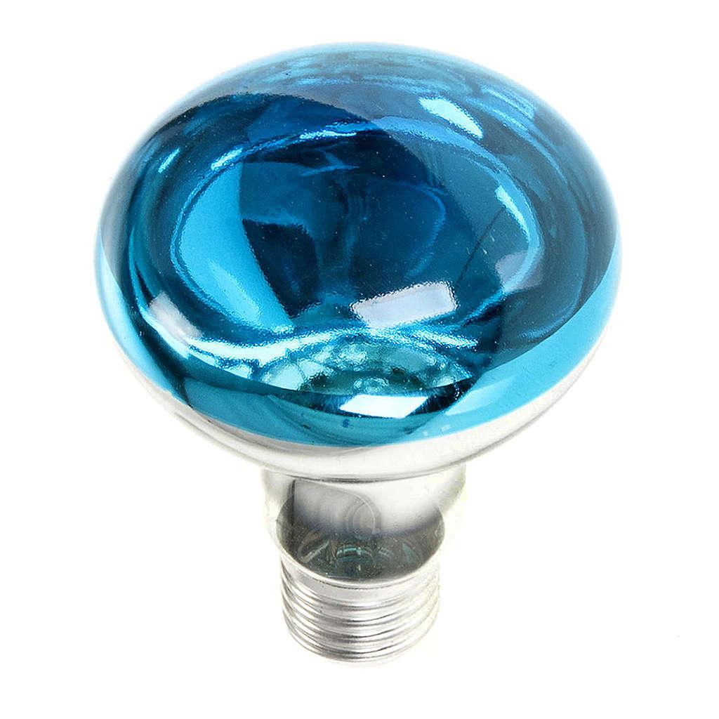 Lampara belén E 27 azul 220v 60w 4