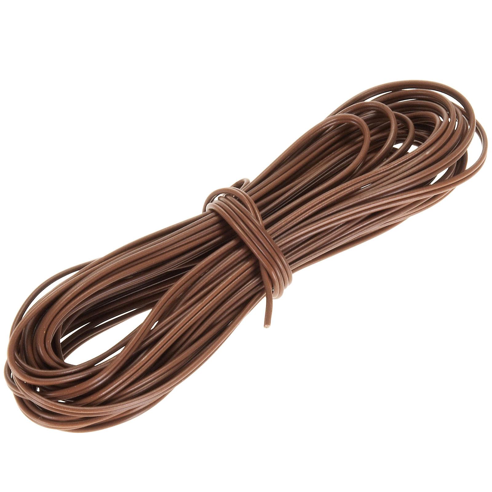 Cable de hilo eléctrico marrón 5 m. 4
