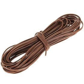 Fil électrique marron 5 mt s1