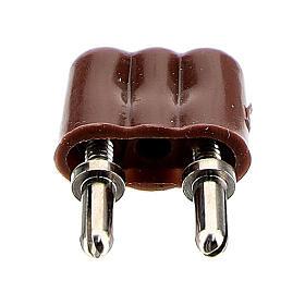 Enchufe para luces belén 3,5V y 4,5V. s1
