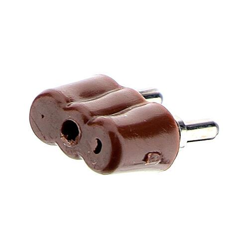 Enchufe para luces belén 3,5V y 4,5V. 3